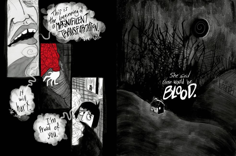 aislinn evans bad blood moon ldcomics graphic novel competition 2020